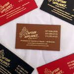 Image of Leather Business Card Size Magnets
