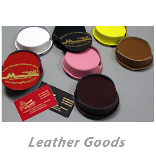 Custom Imprinted Leather Goods